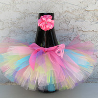 Baby Tutu & Toddler Tutu Bright Colors with Matching Headband