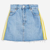 Side Striped Denim Skirt | Topshop
