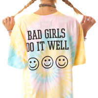 United Couture Bad Girls Live Fast Daddy Tee Tie Dye One