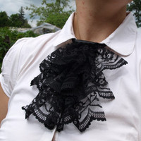 Black Lace Jabot Small MADE BY ORDER