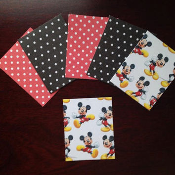 "12 Pre-cut "" DISNEY MICKEY MOUSE "" Erin Condren Box Stickers / Washi Tape  Great planner or scrapbook accessories!"
