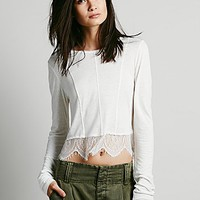 Intimately Womens Peekaboo Lace Crop