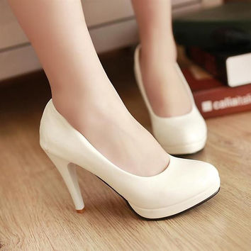 Cool Classy Pump Work Low Heels
