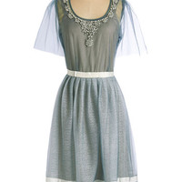 ModCloth 20s Long Short Sleeves A-line My Fair Ladylike Dress