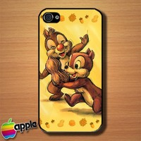 Chip n Dale Childhood Memories Custom iPhone 4 or 4S Case Cover