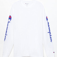Champion Reverse Weave White Long Sleeve T-Shirt at PacSun.com
