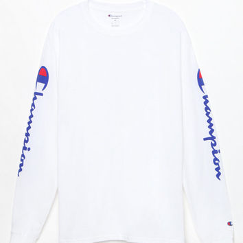 15fe7e6a2ecb0 Champion Reverse Weave White Long Sleeve T-Shirt at PacSun.com