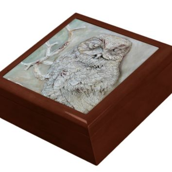 Keepsake/Jewelry Box - Owl - Lacquer Box