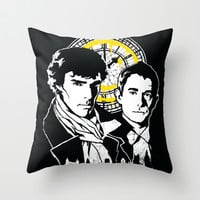 John and Sherlock  Throw Pillow by zerobriant