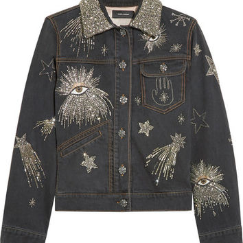 Isabel Marant - Eloise embellished denim jacket