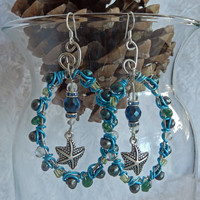 Wire Wrapped Starfish Earrings from AnnaBela Artistry