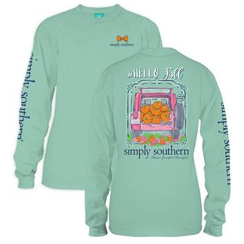 "Youth Simply Southern Long Sleeve - ""Hello Fall"""