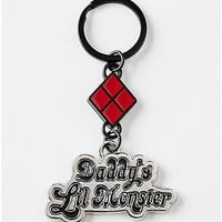 Daddy's Lil' Monster Harley Quinn Keychain - DC Comics - Spencer's