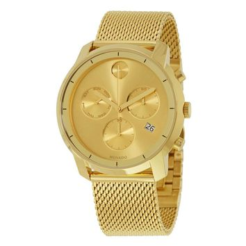 Movado Bold Chronograph Champagne Dial Mens Watch 3600372