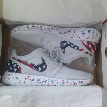 Nike Roshe Run American flag pride custom