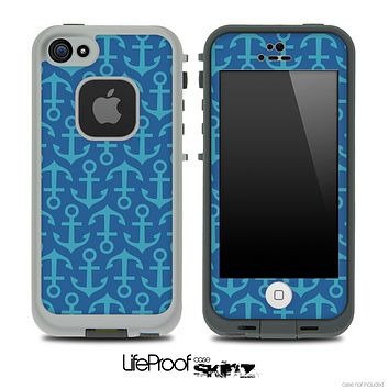 Blue Anchor Collage Skin for the iPhone 5 or 4/4s LifeProof Case