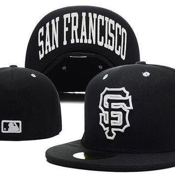 MDIGBE6 San Francisco Giants New Era MLB Cap Americana Ultimate 59FIFTY Black HAT