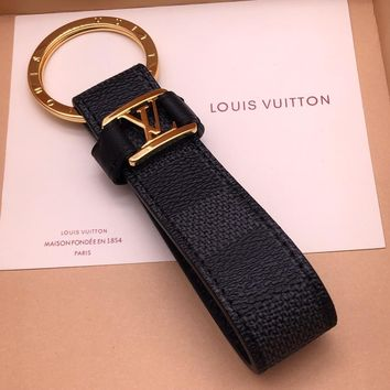 Louis Vuitton Lv M62706 Dragonne Key Holder Black Style 12