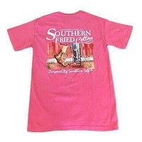 First Kiss Pocket Tee in Crunchberry by Southern Fried Cotton