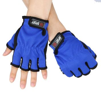 1 Pair Glove Fingerless Exposed Men&Women Breathable Fishing Glove Anti Slip 5 Cut Glove Durable and portable camping sport #15