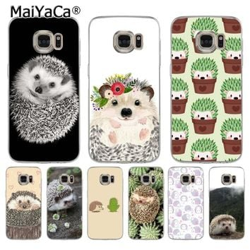 MaiYaCa Cartoon Hedgehog Newest Super Cute Phone Cases for samsung galaxy s7 s6 edge plus s5 s9 s8 plus case