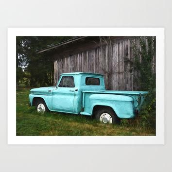 To Be Country - Vintage Truck Art Art Print by Jordan Blackstone