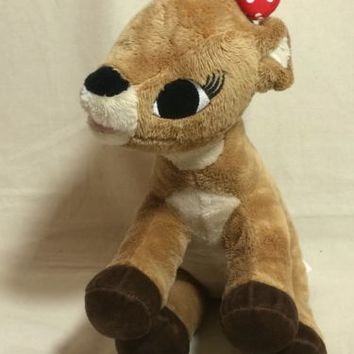"""CommonWealth 12"""" CLARICE / RUDOLPH THE RED-NOSED REINDEER Plush Stuffed Animal"""
