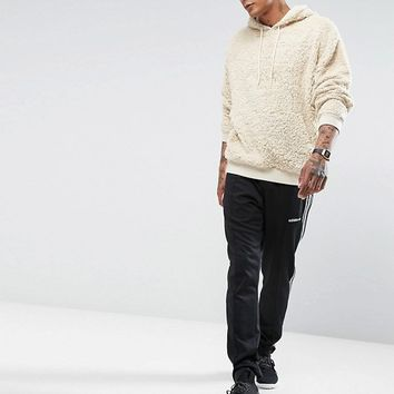 ASOS Borg Oversized Hoodie at asos.com