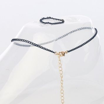 Navy Chain Toe Ring And Anklet Set