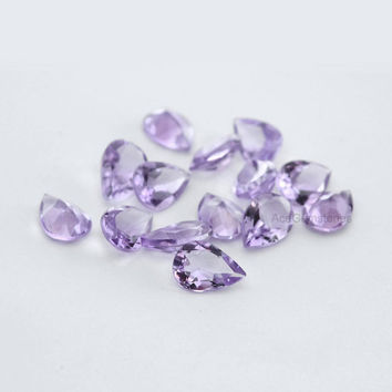 Genuine Pink Amethyst Pear 6x8mm AAA Grade Wholesale Loose Excellent Cut Untreated Gemstone -20 Pcs.