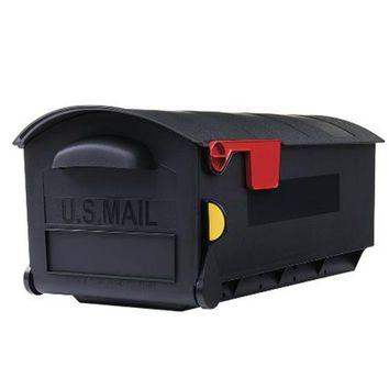 Gibraltar GMB515B01 Patriot Large Post Mount Plastic Mailbox, Black