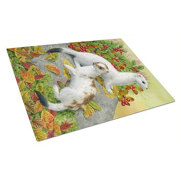 Ermine Stoat Short-tailed Weasel Glass Cutting Board Large ASA2138LCB