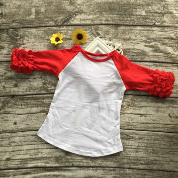 In Stock - Red icing raglan Tshirt