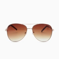 Chain Temple Oversized Aviator
