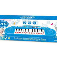 Retail Musical instruments toy kids Frozen girl Cartoon electronic organ toy keyboard electronic baby piano with music 8 song Educational