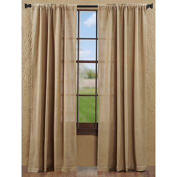 Burlap Natural Panel Curtains