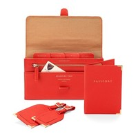 Classic Plain Travel Collection in Poppy Pebble
