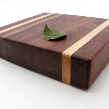 Designer Black Walnut Chopping Block and by TimberGreenWoods