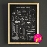Laboratory Equipment Patent Print Laboratory Tools Blueprint Poster House Wear Wall Art Decor Gift Linen Print - Buy 2 Get FREE -312s2g