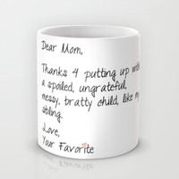 Dear Mom Mug by KrashDesignCo.