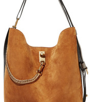Givenchy - GV Bucket suede and textured-leather shoulder bag