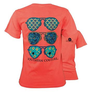 Southern Couture Preppy Wild Aviators Comfort Colors T-Shirt
