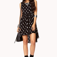 Dotted Geo High-Low Dress