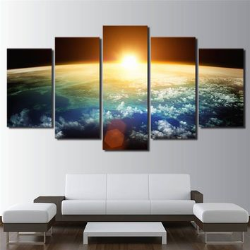 Sun In The Universe Panel Poster Universe Space Living Room Wall Art Canvas Prin