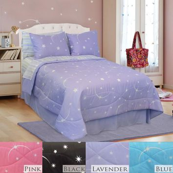 STELLAR - MOON AND STAR COMFORTER SET IN DIFFERENT COLORS AND SIZES