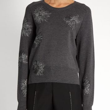 Floral-embroidered wool sweater | Jil Sander | MATCHESFASHION.COM US