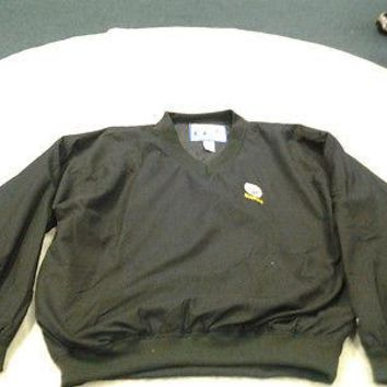 PITTSBURGH STEELERS LOGO ATHELIC PULLOVER WINDBREAKER JACKET