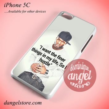 50 Cent Quotes Phone case for iPhone 5C and another iPhone devices