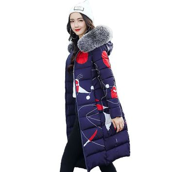 Both Two Sides Can Wear Winter Jacket Women With Fur Collar Hooded Womens Coat Coats Long Parka High Quality Female Parkas