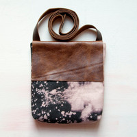 H A N D DYED and Leather Cross Body Shoulder by GiftShopBrooklyn